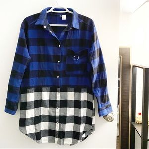 H&M / Divided oversized flannel dress